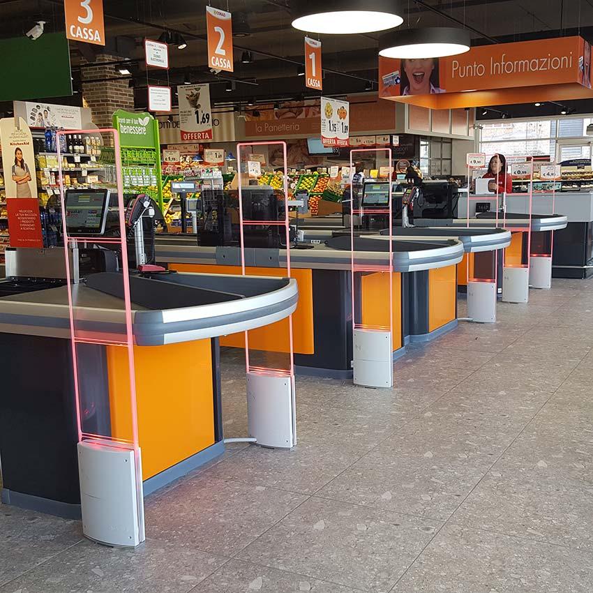 Supermercato Conad - Antenne Antitaccheggio - Checkpoint